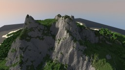 Mountainous Island WIP Minecraft Map & Project