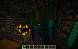 Two-player minecart-spawner game Minecraft