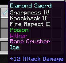 how to give items enchantments with commands