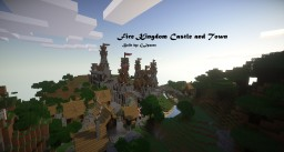 Fire Kingdom Castle and Town Minecraft Project