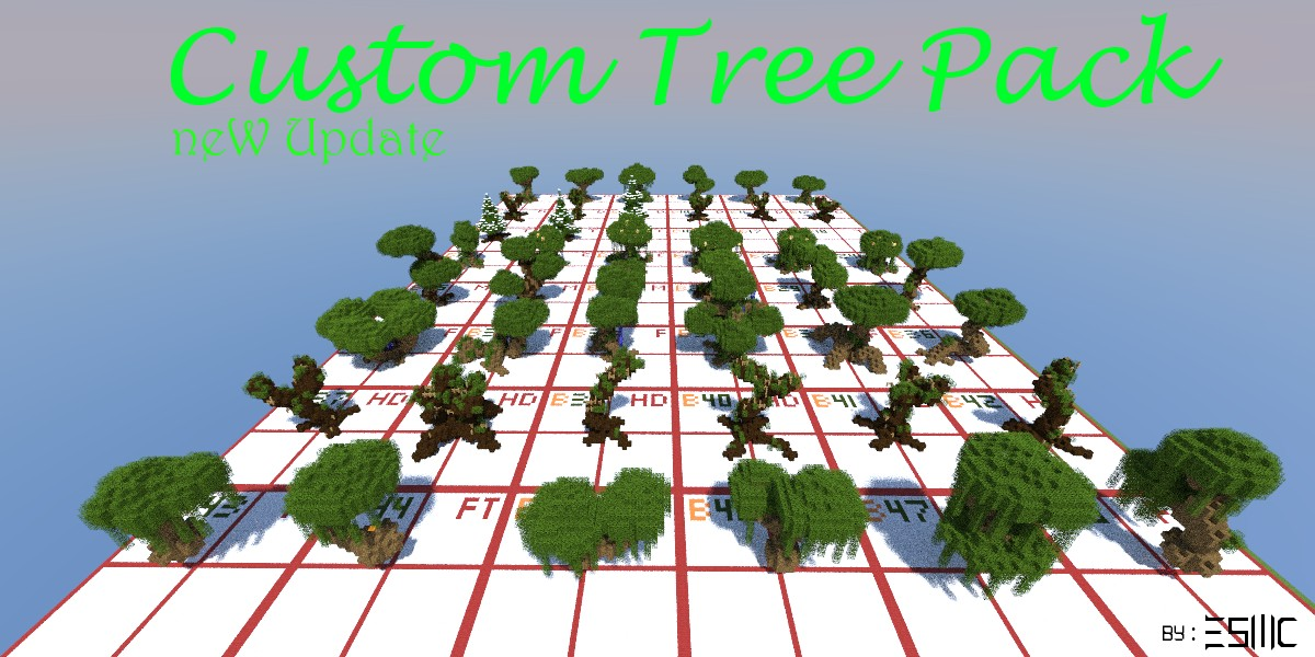 minecraft custom tree pack over 40 trees update 02 minecraft project
