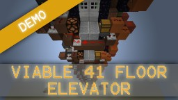 Button-less 41 floor elevator Minecraft Map & Project