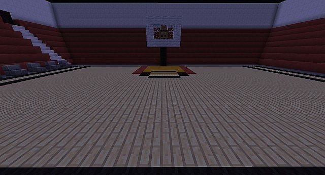 Miami Heat BasketBall court Minecraft Project