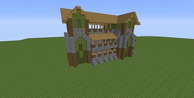 Forest fortress house speed build minecraft project for Fortress build