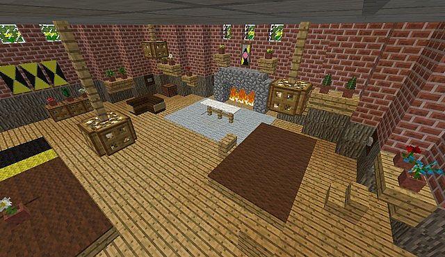 Hufflepuff common room Minecraft Project
