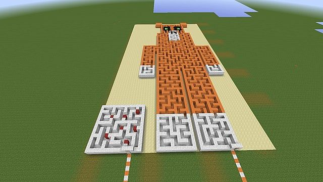 Stampy Long Nose Maze From Above