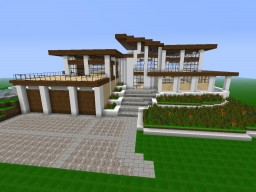 Cool Modern Mansion Minecraft Map & Project
