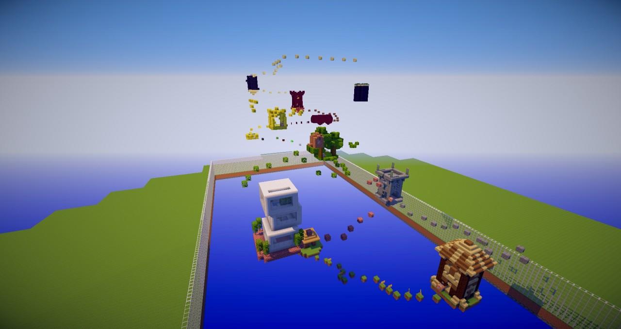 Islands parkour map minecraft project