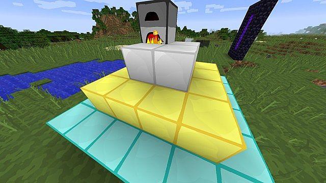 furance, iron blocks, gold blocks and diamond blocks