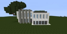 My first attempt at a Modern House(Not decorated) Minecraft Map & Project