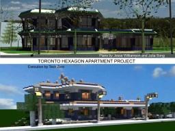 Toronto Hexagon Apartment (Blueprint Adaptation)(Modern High-end Urban) Minecraft Map & Project