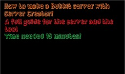 How to create a Bukkit Server using ServerCreator Minecraft Blog Post