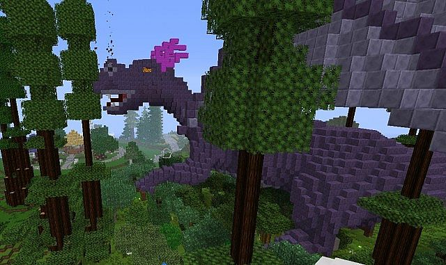 minecraft forest dragon