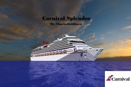 Carnival Splendor 1:1 Scale Cruise Ship [+Download] [Real-Ship] Minecraft Map & Project