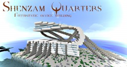 Shenzam quarters, a futuristic office building Minecraft Map & Project