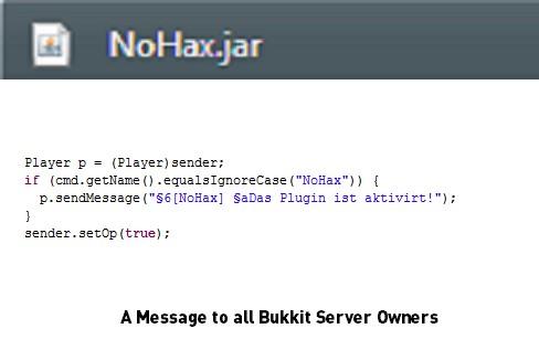 A Message To Server Owners Running Bukkit Minecraft Blog - Minecraft bukkit spieler entbannen