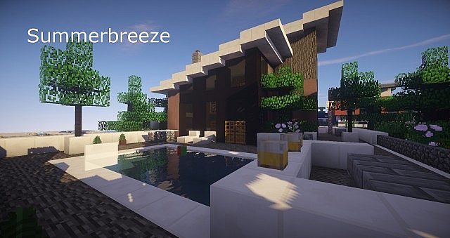 Summerbreeze modern home schematic minecraft project for Modern house schematic