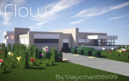 Flow: A Minimalistic Modern Home Minecraft Map & Project