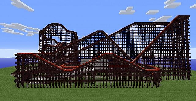 how to build a roller coaster in minecraft xbox one