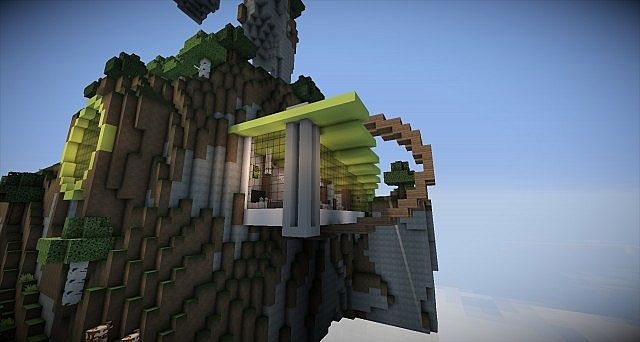 Modern nature concept house minecraft project for Modern house concept