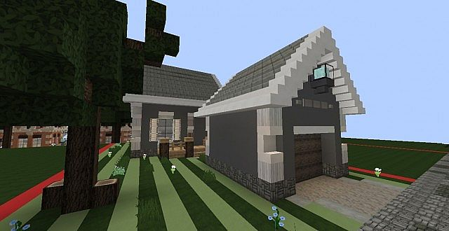 Craftsman cape cod home small minecraft project for Craftsman cape cod