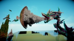 Un dragon de glace VS Poséidon Minecraft Map & Project