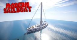 Modern Sailboat - Luxury Yacht Minecraft Project