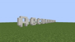 Letters Text Minecraft Project