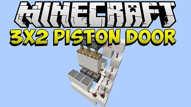 Piston Door 3x2 3x2 Piston Door Minecraft