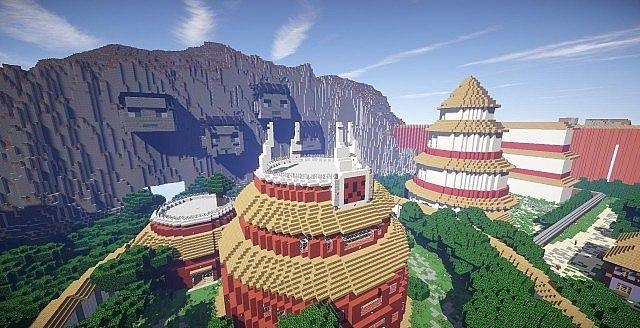 Hidden Leaf Village Minecraft Project