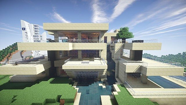 Modern house on the hill 2 minecraft project for Modern house on hill