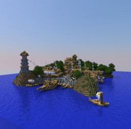 Medieval Port Minecraft Map & Project