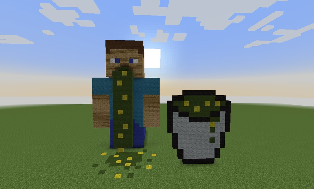 Barfing Steve Minecraft Project