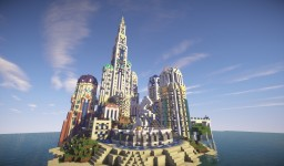 Atlantian Castle with timelapse Minecraft Project