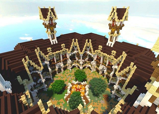 Fantasy Medieval Faction Spawn Minecraft Project