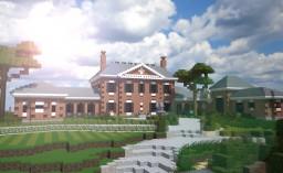 Georgian brick mansion Minecraft Map & Project