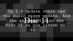 Music Disc 11: Solving the mystery Minecraft Blog Post