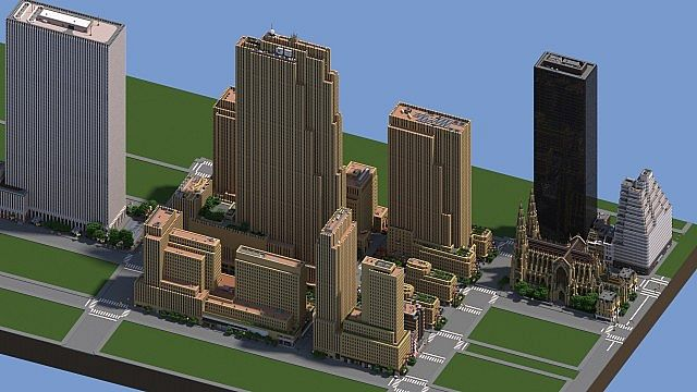 rockefeller center  manhattan  new york city minecraft project