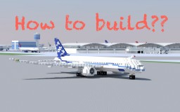 How to build a plane (Demo: 7E7) Minecraft Blog Post