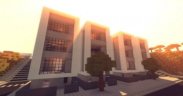 Modern Row Houses Minecraft Map