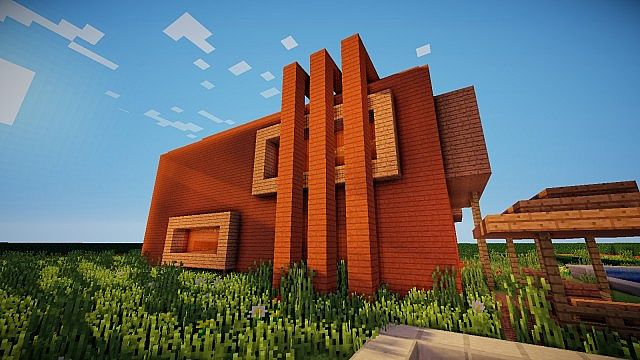 Casa moderna grande 1 minecraft project for Casas modernas grandes minecraft