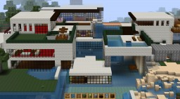 Beachside house Minecraft Map & Project
