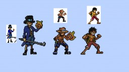 One Piece Pixel Arts: The Three Brothers [With Original Form]