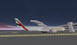 [Airplane] Boeing 777-300ER (77W) Minecraft Map & Project