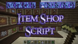 Denizen powered item frame shop Minecraft