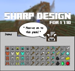 SHARP DESIGN [MC1.7.10] The Original Noiseless-Default Resource Pack! Minecraft