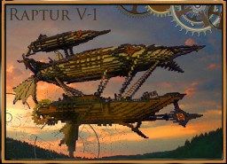 Steampunk  Airship Reptur V-1 Map Download Minecraft Map & Project