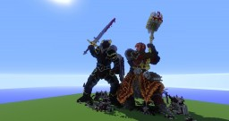 Demon knight vs War priest Minecraft