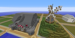 Castle Built By Me And Another Member Of Kraygo Industries Minecraft
