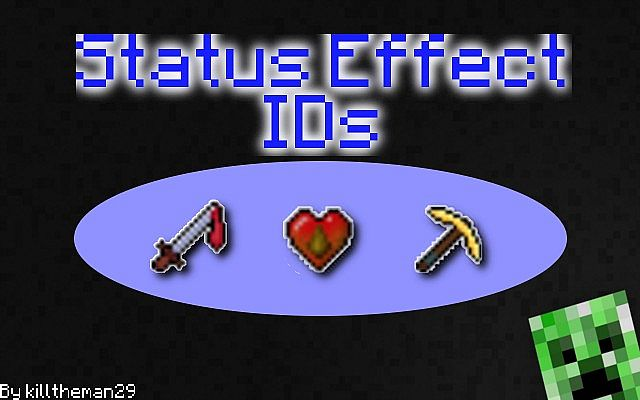 MInecraft Status Effect IDs [All Versions + 1 8] [Detailed